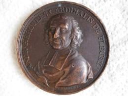Médaille André Hercule Cardinal De Fleury 1736 Par DASSIER Jean - France