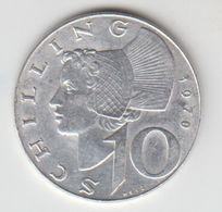 OSTERREICH  10  SCHILLING  1970 - Autriche