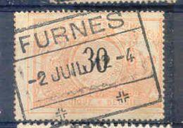 A207 Belgie Spoorwegen Met Stempel FURNES - Railway