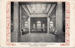 Prestito Nazionale  - Banco Di Roma - Sede Di Alessandria D'Egitto - Salone Per Il Pubblico - Fp Nv - Guerre 1914-18