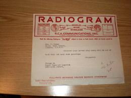 Radiogram  RCA Communication INC  Royal Yugoslav Legation Washington Mrs J Huber - Etats-Unis