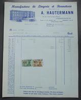 Schaerbeeck-Bruxelles - Manufacture Lingerie-Bonneterie A. Hautermann - Av Huart-Hamoir - 1956 - 1950 - ...