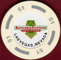 $1 Casino Chip. Boulder Station, Las Vegas, NV. B40. - Casino