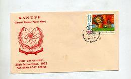Lettre Fdc 1972 Atome Kanupp - Pakistan