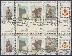 Tchécoslovaquie 1968 Mi 1792-7 ZS (Yv 1641-6 Les Paires Avec Interpaneau), Obliteré - Gebraucht