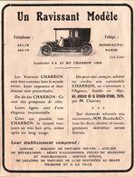 Landaulet 3/4 HP Charron 1908 - Publicité L'illustration 1908 - Advertising