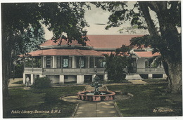 Dominica Public Library Hand Colored By Masterville - Dominique