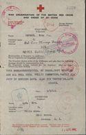 Message Croix Rouge Et Ordre De St John Message De York Angleterre Censure Pour Jersey 2 Guerre 1940 - Marcophilie