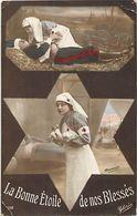 - Themes - Ref-A434- Guerre 1914-18 - Patriotique - Infirmiere Croix Rouge - Sante - La Bonne Etoile De Nos Blessés - - Patriotiques