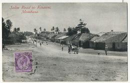 Mombasa Salim Road To Kisauni P. Used To France Postcard Club Deltiology - Kenya