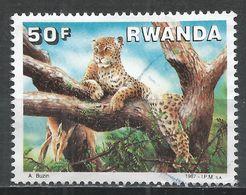 Rwanda 1987. Scott #1295 (U) Animal, Leopard * - Rwanda