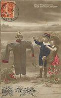 - Themes - Ref-A428- Guerre 1914-18 - Patriotique - Epouvantail - Allemand Croquemitaine Et Enfants - Epouvantails - - Patriotiques