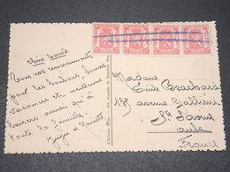 BELGIQUE - Annulation Plume Sur Affranchissement De Tournai Sur Carte Postale Pour La France - L 15377 - Postmark Collection