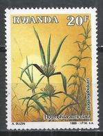 Rwanda 1989. Scott #1326 (U) Medicinal Plant, Hygrophila Auriculata * - Rwanda
