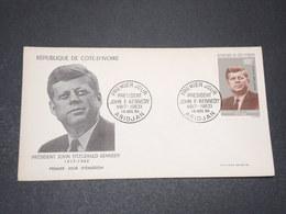 CÔTES D'IVOIRE - Enveloppe FDC Kennedy En 1964 - L 15380 - Côte D'Ivoire (1960-...)