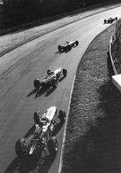 Grand Prix D'Italie 1965 - Clark,Stewart,Hill And Gurney Drift Through The Parabolica,Monza - CPM - Grand Prix / F1