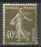 FRANCE , FRENCH , 40 Cts , Type Semeuse Fond Plein , Type II , 1924 - 1926 , N° YT  193 B - 1906-38 Semeuse Camée