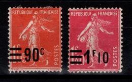 Semeuse YV 227 & 228 N* Gomme Faible Cote 3,85 Eur - France