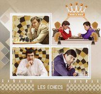 Madagascar 2017 MNH Chess Vladimir Kramnik Sergey Karjakin Viswanathan Anand 3v M/S Sports Stamps - Chess