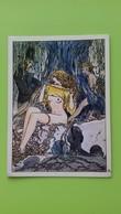 Cartolina MILO MANARA - Pin-up - 1984 - Bandes Dessinées