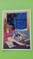 Cartolina MILO MANARA - Donna D'Inverno - 1984 - Bandes Dessinées