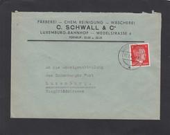 FÄRBEREI-CHEM. REINIGUNG-WÄSCHEREI. C. SCHWALL & CO.,LUXEMBURG. - 1940-1944 Occupation Allemande