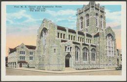 First M.E. Church & Community House, Gary, Indiana, C.1930 - Tribe Of K Postcard - Gary