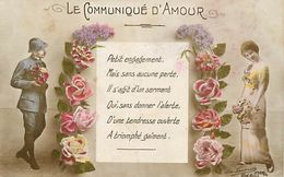 - Themes - Ref-A419- Guerre 1914-18 - Patriotique - Le Communiqué D Amour - Poilu - Poeme - - Patriotiques