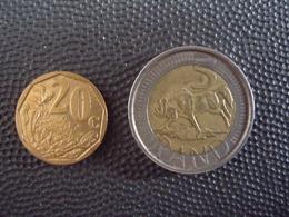 AFRIQUE DU SUD  = 2 MONNAIES - Afrique Du Sud