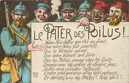 - Themes - Ref-A415- Guerre 1914-18 - Patriotique - Le Pater Des Poilus - Poilu - Joffre - Regiments - - Patriotiques