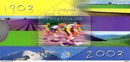 """FRANCE 2003 : Pack Officiel Des 22 Souvenirs Philatéliques """"1903 - 2003 : 100 ANS DU TOUR DE FRANCE""""  22 X N°YT 3582 83. - Wielrennen"""