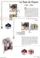 """FRANCE 2003 : LOT """" 100 ANS DU TOUR DE FRANCE """". N° YT 3582 3583. Voir Les 4 Scans. - Ciclismo"""