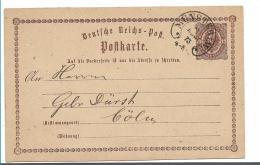 BRS248 ( Münster, Hufeisenstempel 1873 Nach Cóln - Deutschland