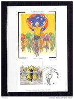 """FRANCE 2003 : Carte Maximum En Soie N° YT 3583 """" 100 ANS DU TOUR DE FRANCE """" En Parfait état. CM - Ciclismo"""