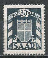 Saar 1949. Scott #O28 (M) Arms * - Service