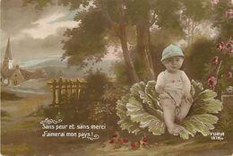 - Themes - Ref-A409- Guerre 1914-18 - Patriotique - Graine De Poilu - Bebe - Chou - Sans Peur Et Sans Merci .. - - Patriotiques