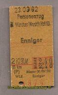(L07) Pappfahrkarte DB --> Münster - Enniger (1962) - Europa