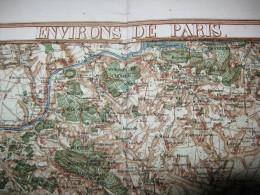 Environs De Paris 1836 - Cartes