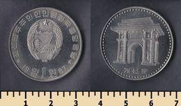 North Korea 1 Won 1987 - Korea, North