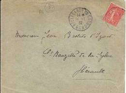 GARD - 30 - BELLEGARDE DU GARD  - TàD De Type A4 - 1932 - Marcophilie (Lettres)