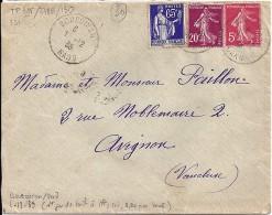 GARD - 30 - BOUCOIRAN - TàD De Type A4 - 1939 - Marcophilie (Lettres)