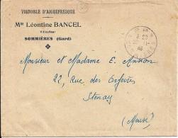 GARD  -  30  -  SOMMIERES /P.P.  -  TàD De Type A4 -  1946 - Marcophilie (Lettres)