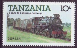 Tanzania, 1985 - 10sh Locomotive 3107 - Nr.272 MNH** - Tanzania (1964-...)