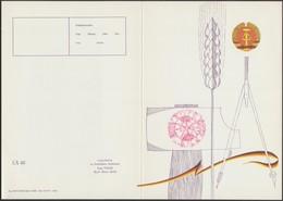 Allemagne De L'Est 1971. Télégramme Postal De Luxe. Symboles Du Drapeau Est-allemand : Compas, Blé, Couleurs Nationales - Enveloppes