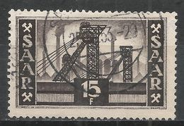 Saar 1952. Scott #240 (U) Mine Shafts * - Oblitérés