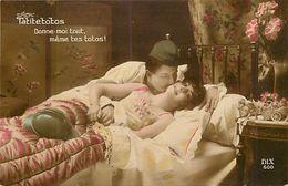 - Themes - Ref-A401- Guerre 1914-18 - Patriotique - Tatitetotos - Toto - Pou - Pous - Insectes - Couple - Humour - - Patriotiques