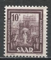 Saar 1949. Scott #204 (M) Building Trades * - Neufs