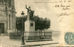 Versailles Statue De L'abbé De L'epée Circulee En 1905 Carte Peu Fréquente - Versailles