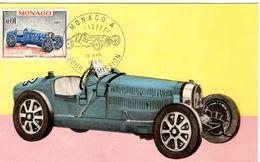 Monaco  -  Voitures De Course  -  Bugatti Type 35  - 1931  -  Carte Maxi - Automobilismo