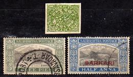 ETATS PRINCIERS De L'INDE - Protectorat Britannique - SORUTH - 1878 N° 9 - 1929 N° 23 - Service N° 2 -Oblitérés - Soruth
